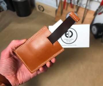 How to Make a Leather Pull Tab Minimalist Wallet (Free Template!)