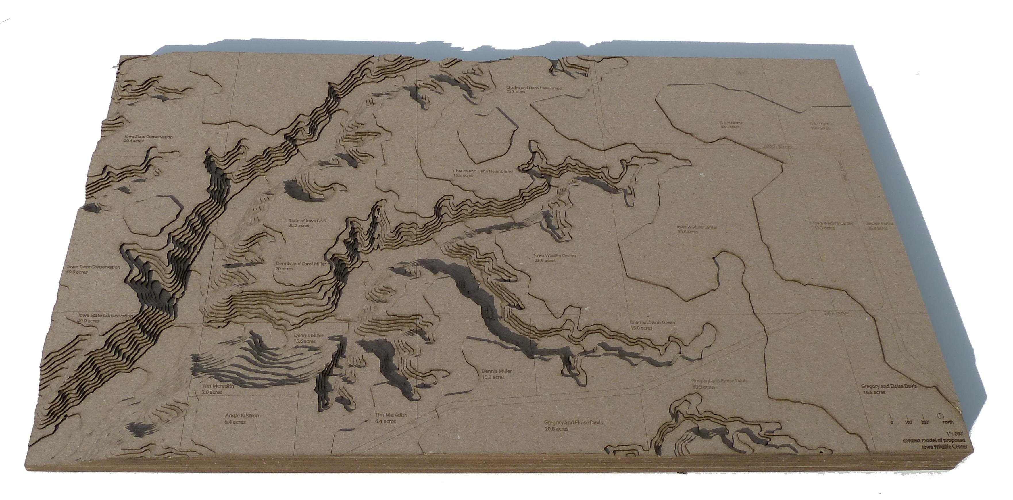Create a Site Toporaphic Model using a Laser Cutter
