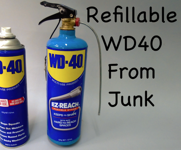 Refillable WD40 From Junk