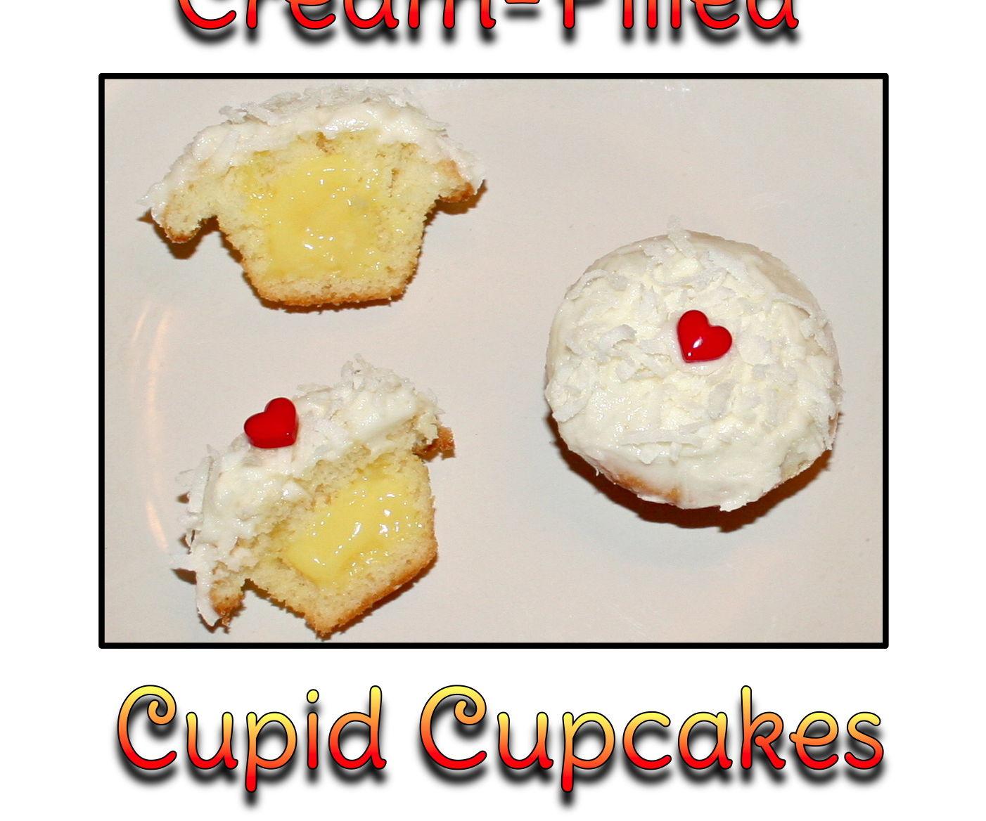 Cream-Filled Cupid Cupcakes