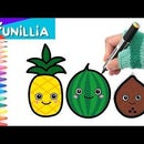 How to Draw Cute Tropical Fruits