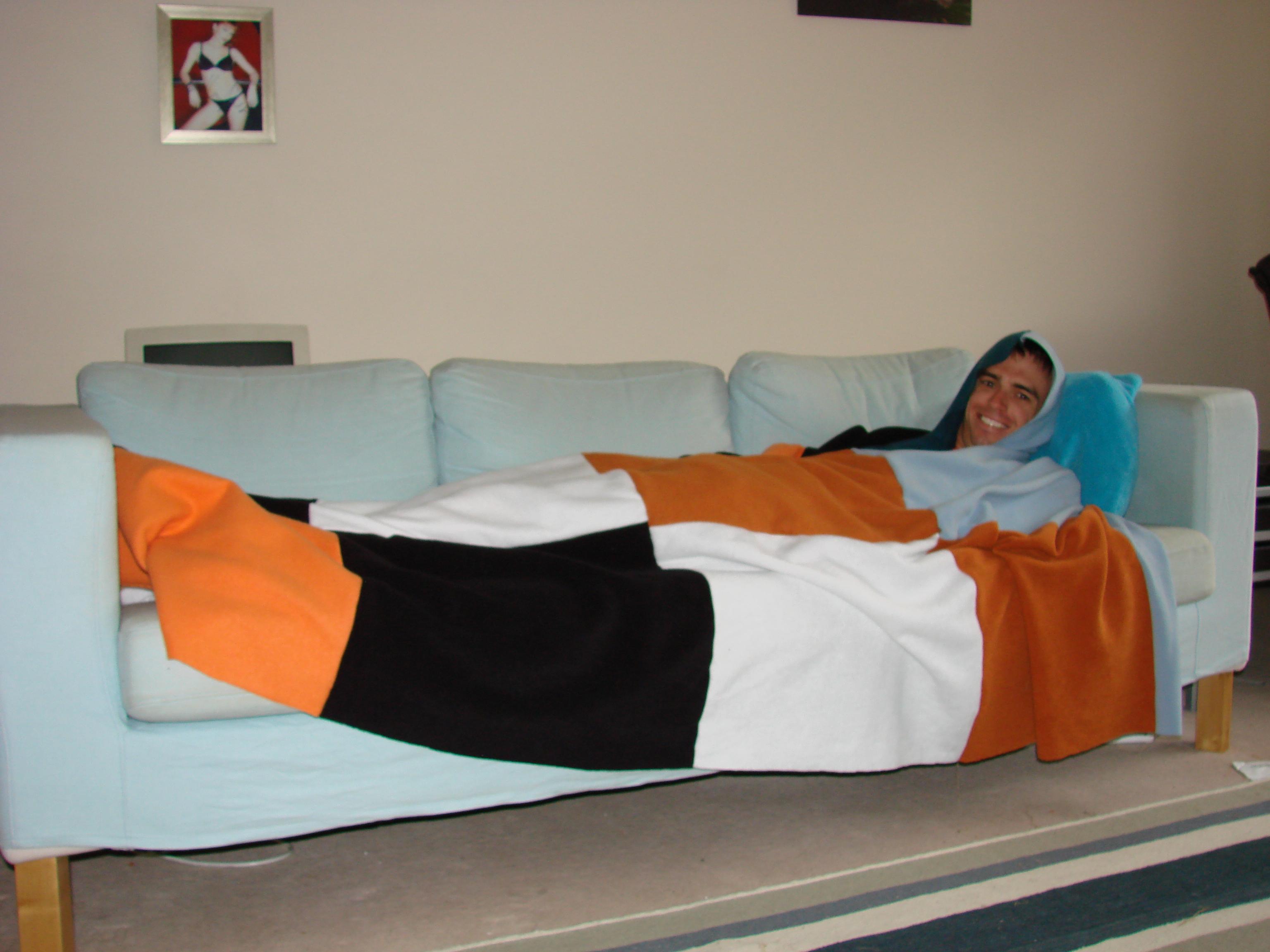 Blanket With Built-In Hood
