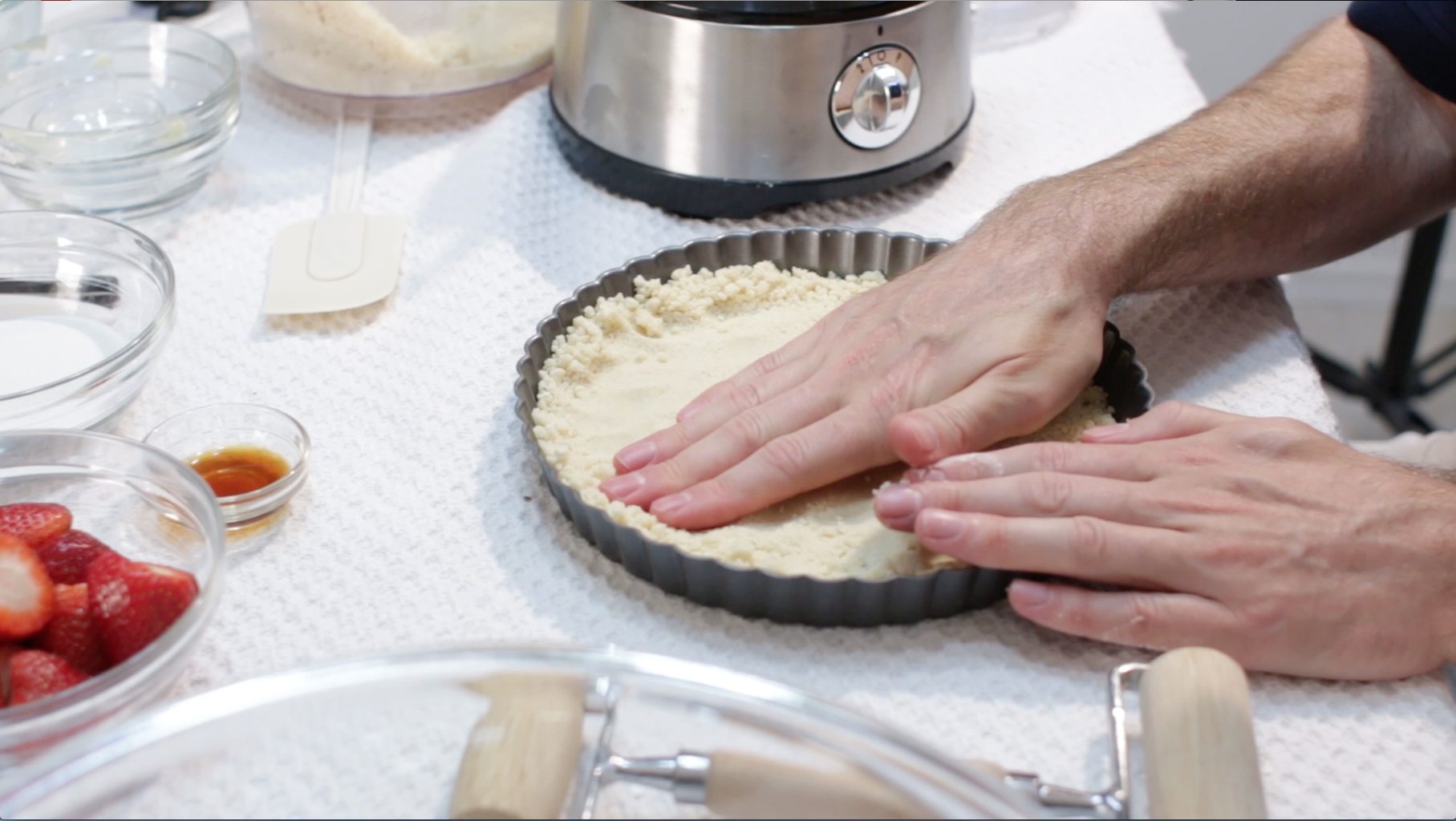Add Pastry Crumble to Tart Pan