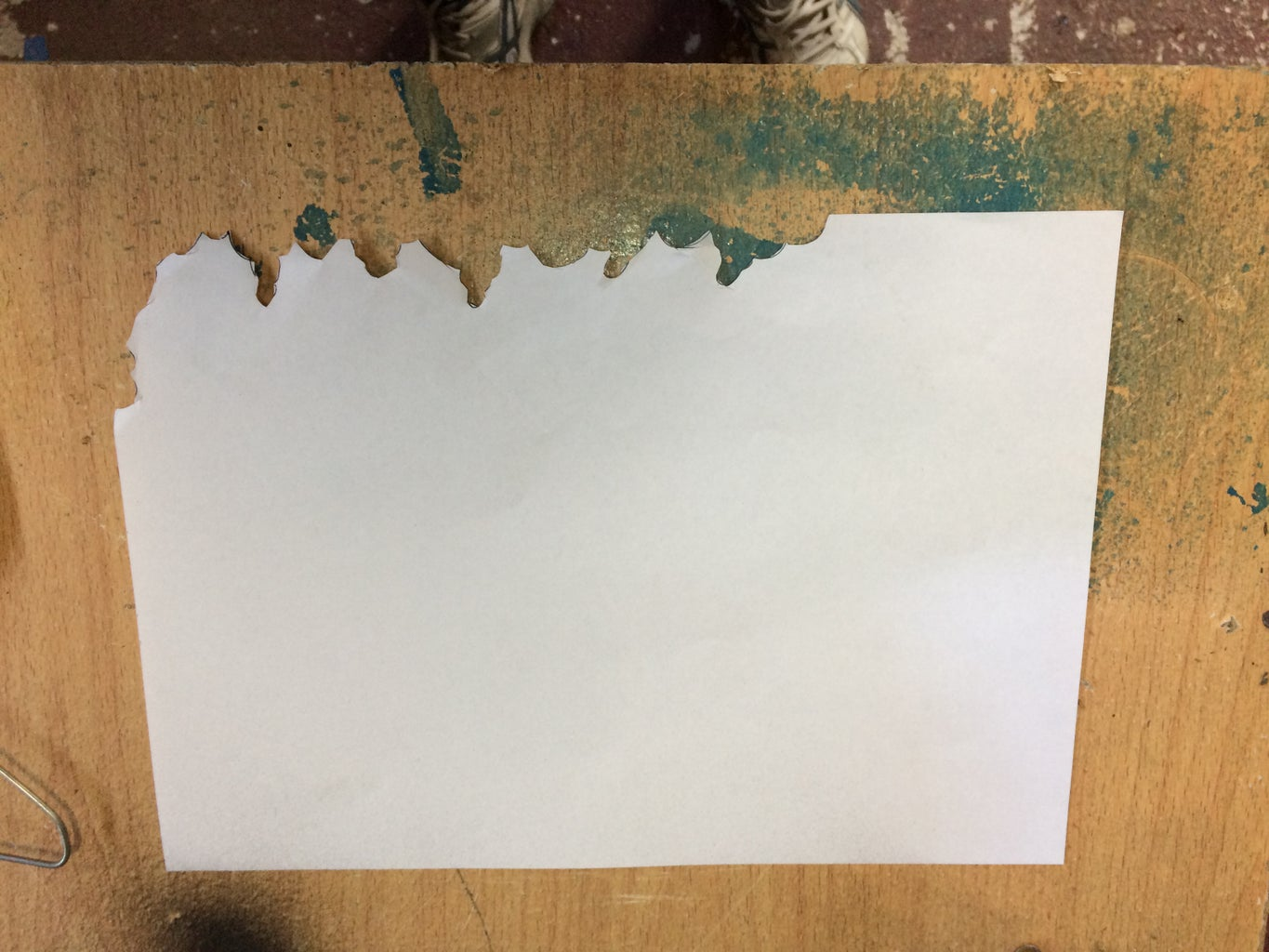 The First Coat and Making a Stencil