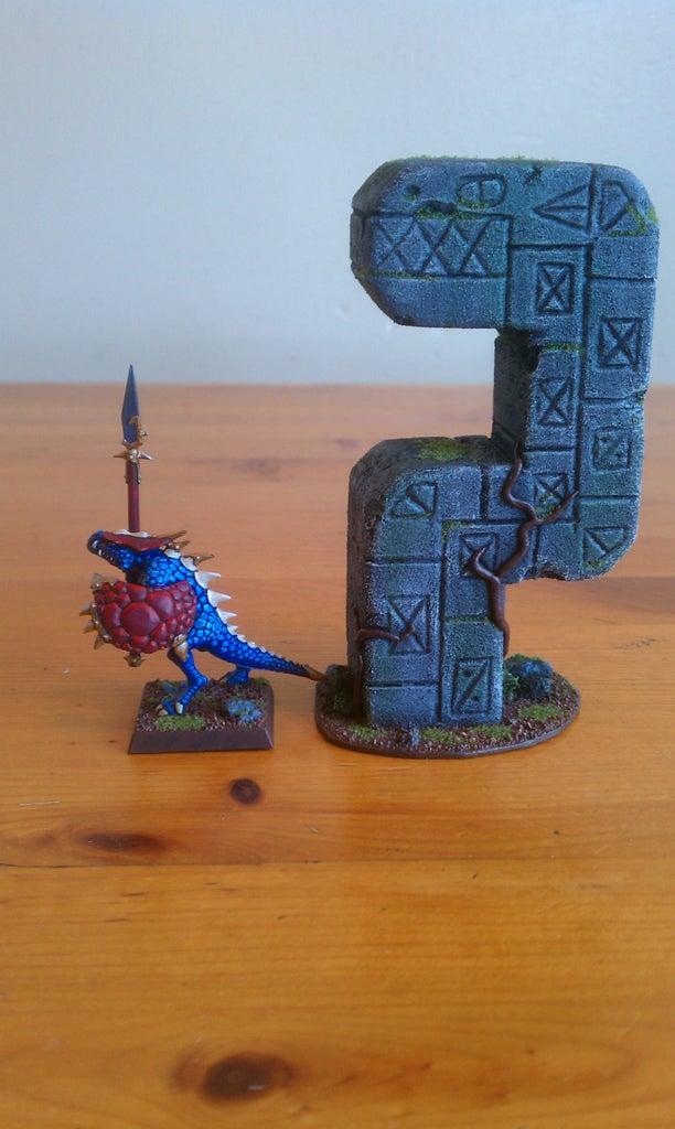 Warhammer Terrain: Lizardmen Pillar