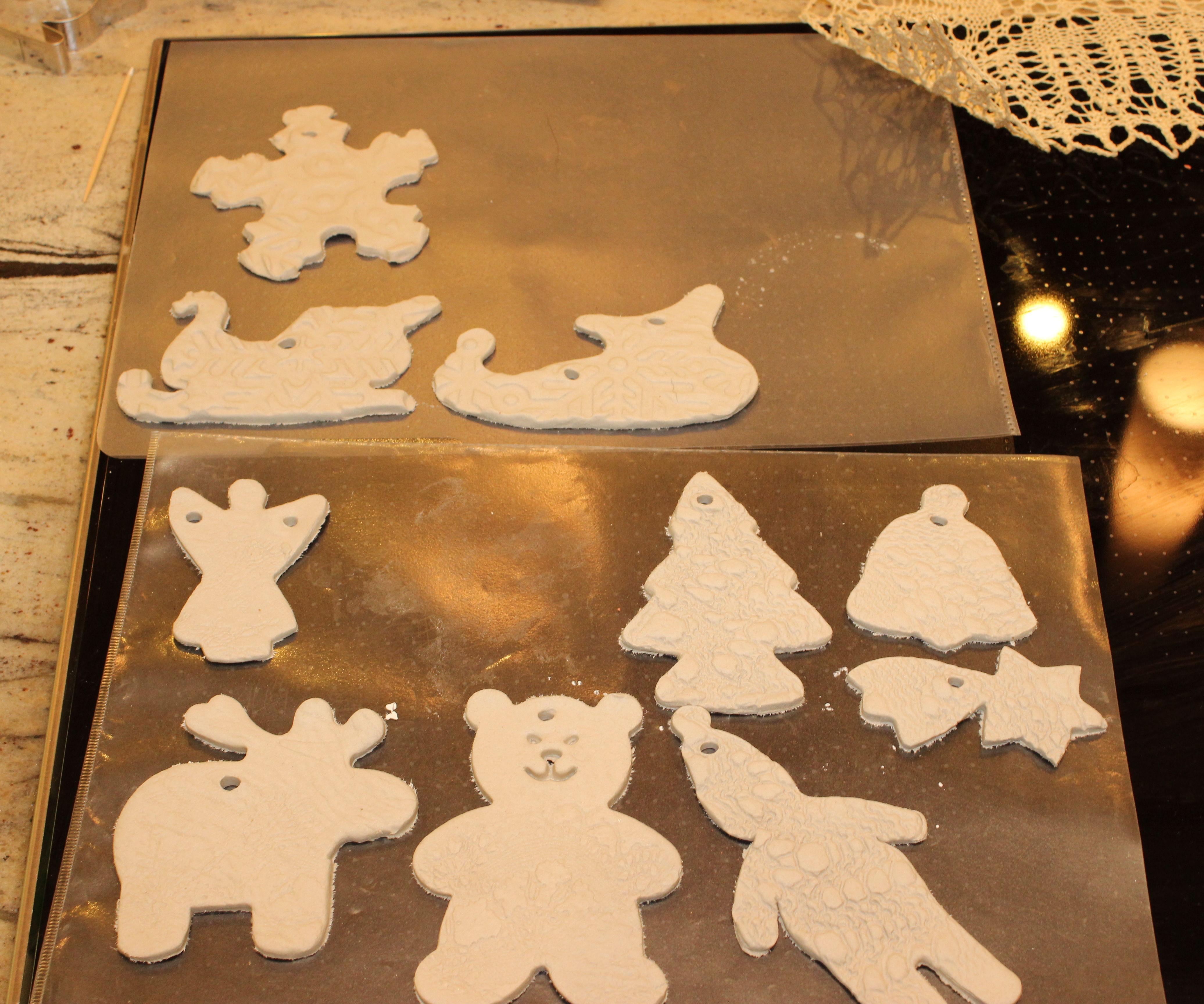 5 min Clay Christmas Ornaments