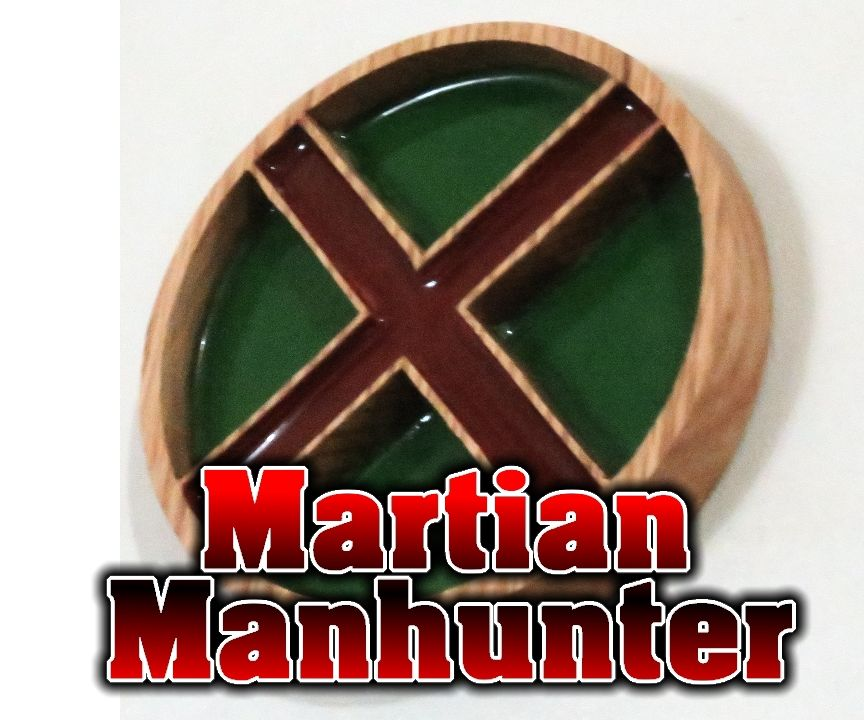 Martian Manhunter Superhero Emblem - Wood and Resin