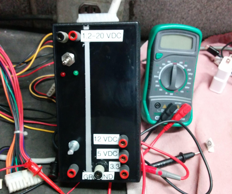 Bench power supply using PC power supply
