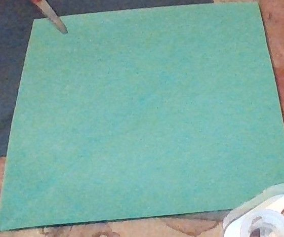 Turning A4 Paper into a Square