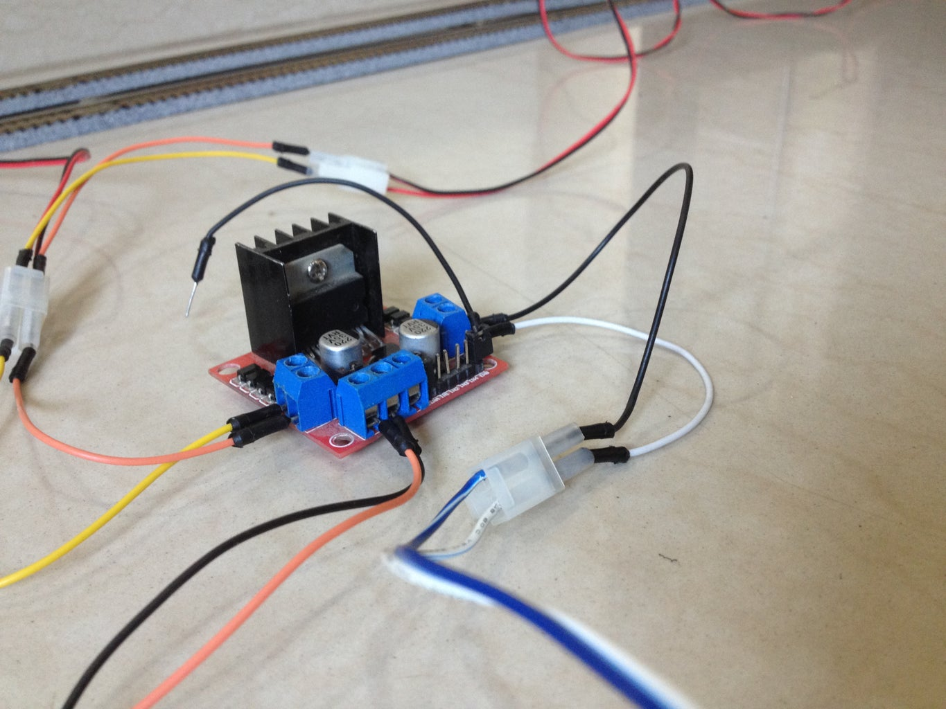 Connect the Motor Driver to the Track Power Feeder