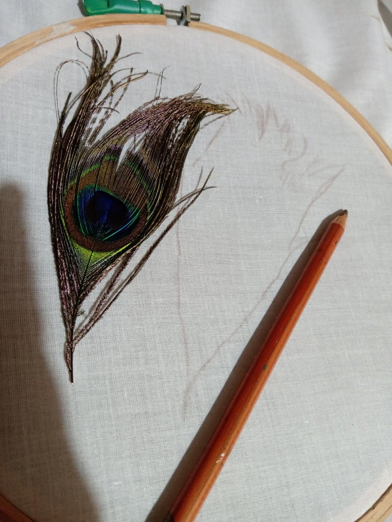 Draw Rough Sketch With Pencils, on a Plain Cloth!