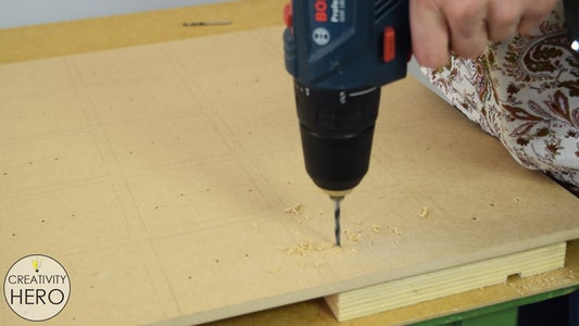 Making Holes Into the MDF Board for All the Electronic Parts.