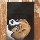 Acrylic Painting of Dog