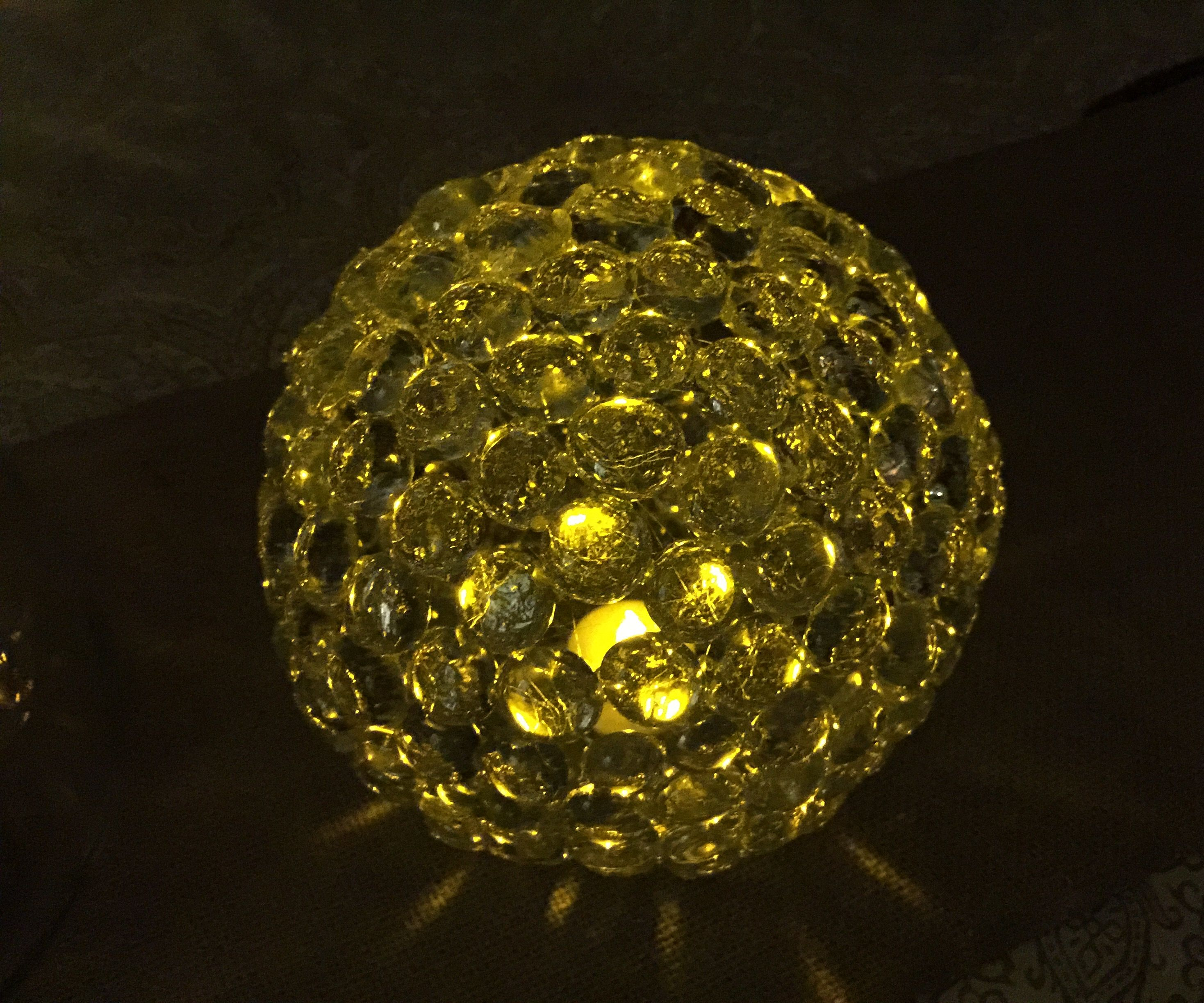 Glass Gem Ball Light