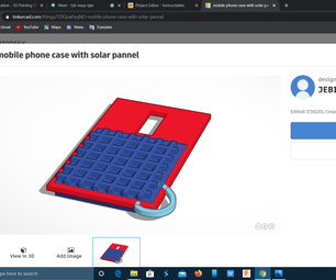 Mobile Phone Case With Solar Pannel