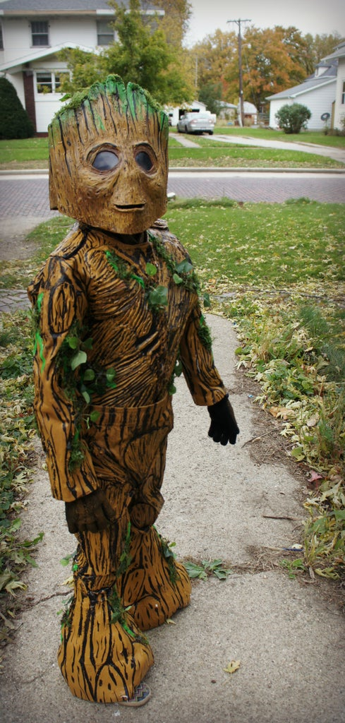 Groot Costume With Walkman/Awesome Mix Tape Trick or Treat Bag! (Guardians of the Galaxy)