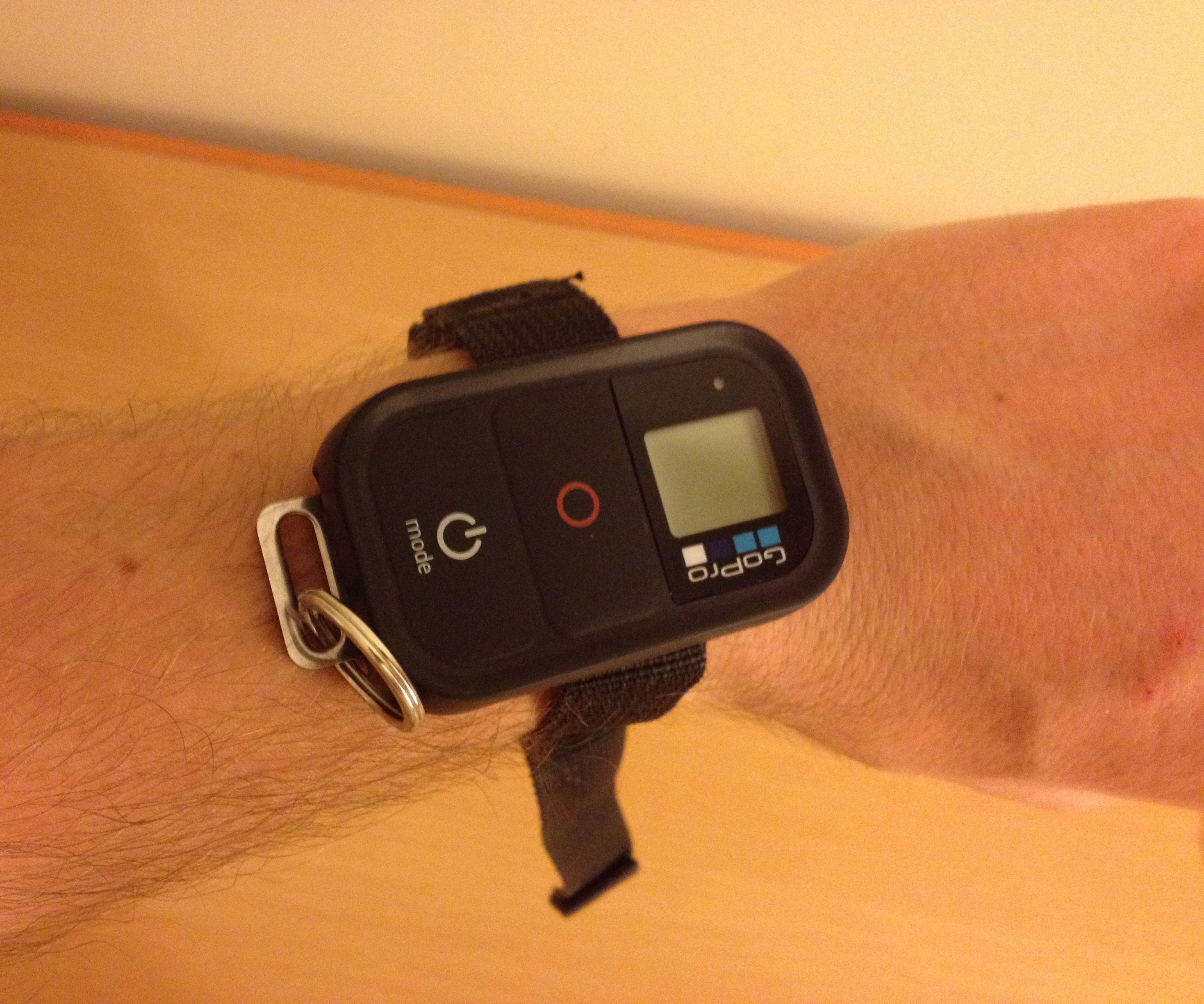 GoPro remote wristband