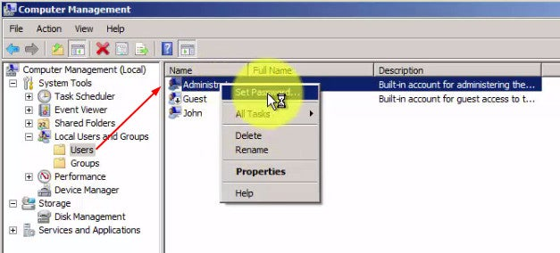 Enable Administrator Account and Set Password (GUI)
