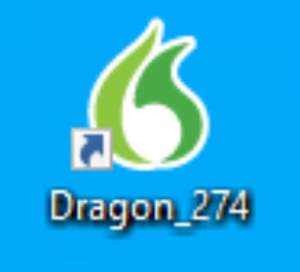 Check the Desktop for the Dragon Icon