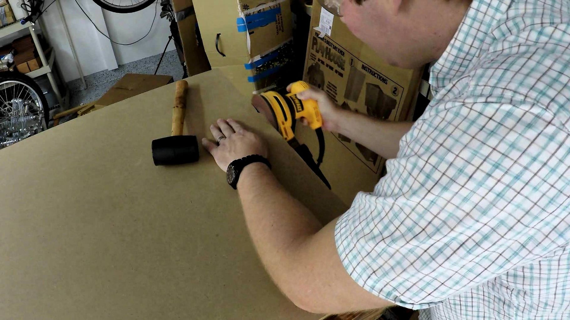 Re-install MDF and Cut Hole
