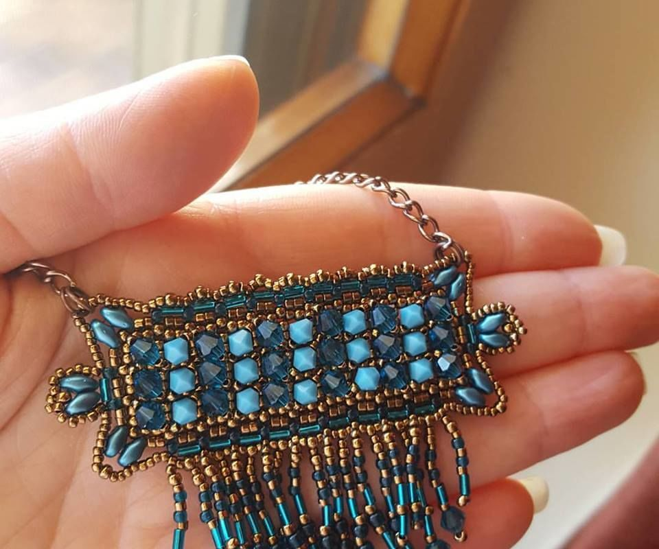 DIY TUTORIAL WEST PENDANT WITH BEADS