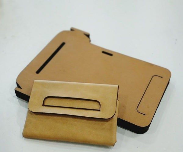 No Sewed Origami Leather Card Case