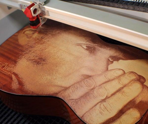 Wood Engraving   Laser Engraved Guitar