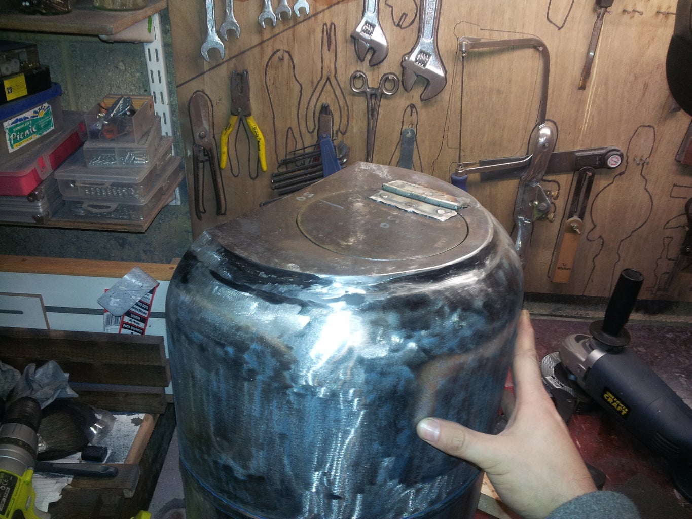 Weld Front Plate to Barrel