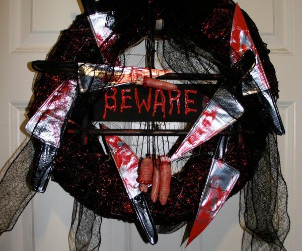 Gena Rumple's Halloween Horror Wreath Tutorial