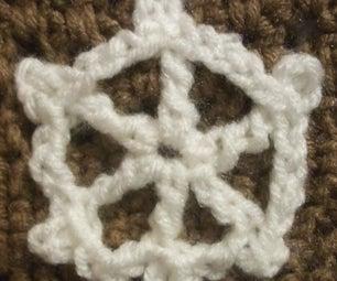 Crocheted Ship's Wheel Applique
