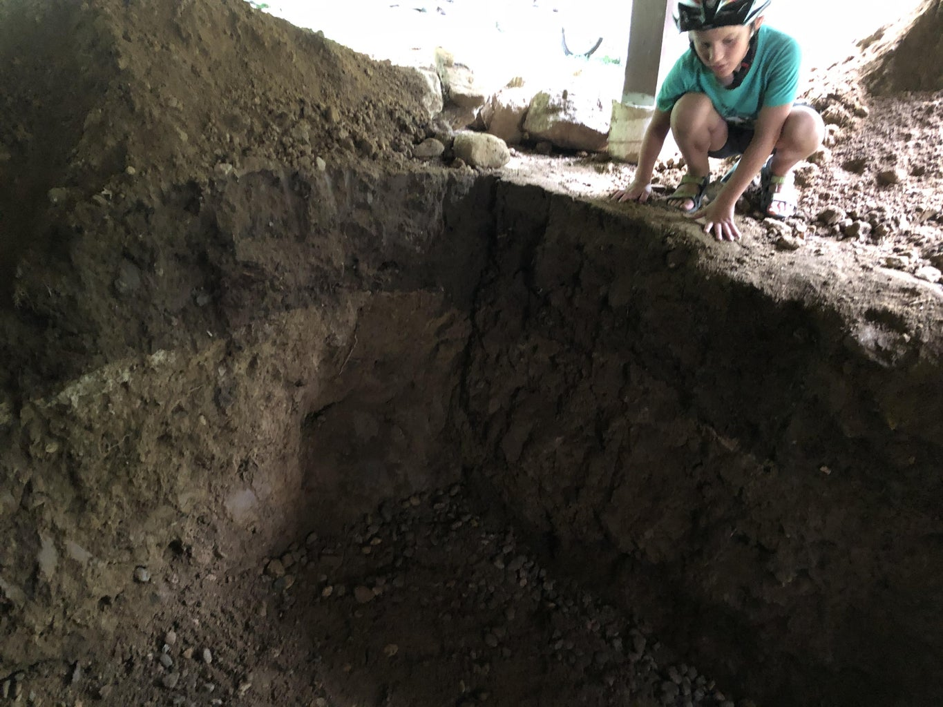 Digging the Root Cellar Hole