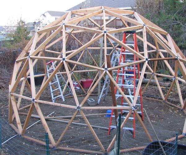 Geodesic Cedar Greenhouse