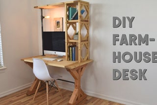 How To Build An Easy Farmhouse Desk 5 Steps With Pictures Instructables