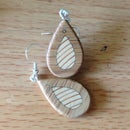 Wooden Earrings (with minimal tools!)