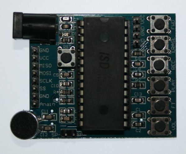 PICAXE - Controlling the ISD1760 Voice Recorder Module with SPI (Serial Peripheral Interface)