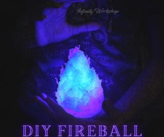 DIY Blue Fireball Using Hot Glue