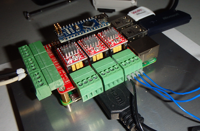 Attached Stepper Motor Leads to CNC Hat