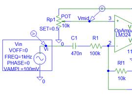 Op-Amp Music LED Simulations