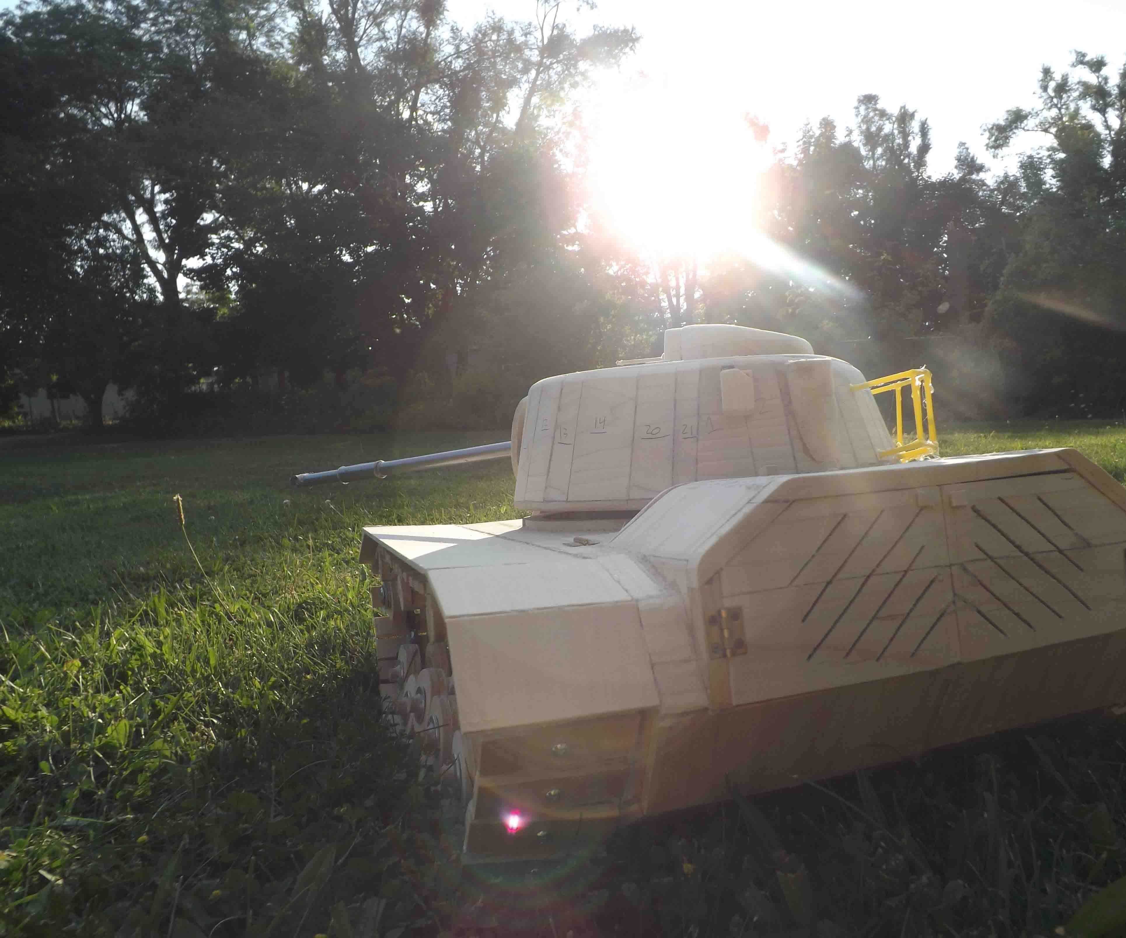 RC M48A3 Patton tank