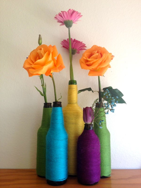 How to Turn a Beer Bottle Into a Colorful Flower Vase