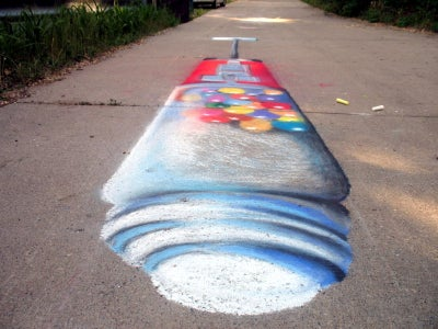 My FIRST 3D Chalk Drawing. More to Come...