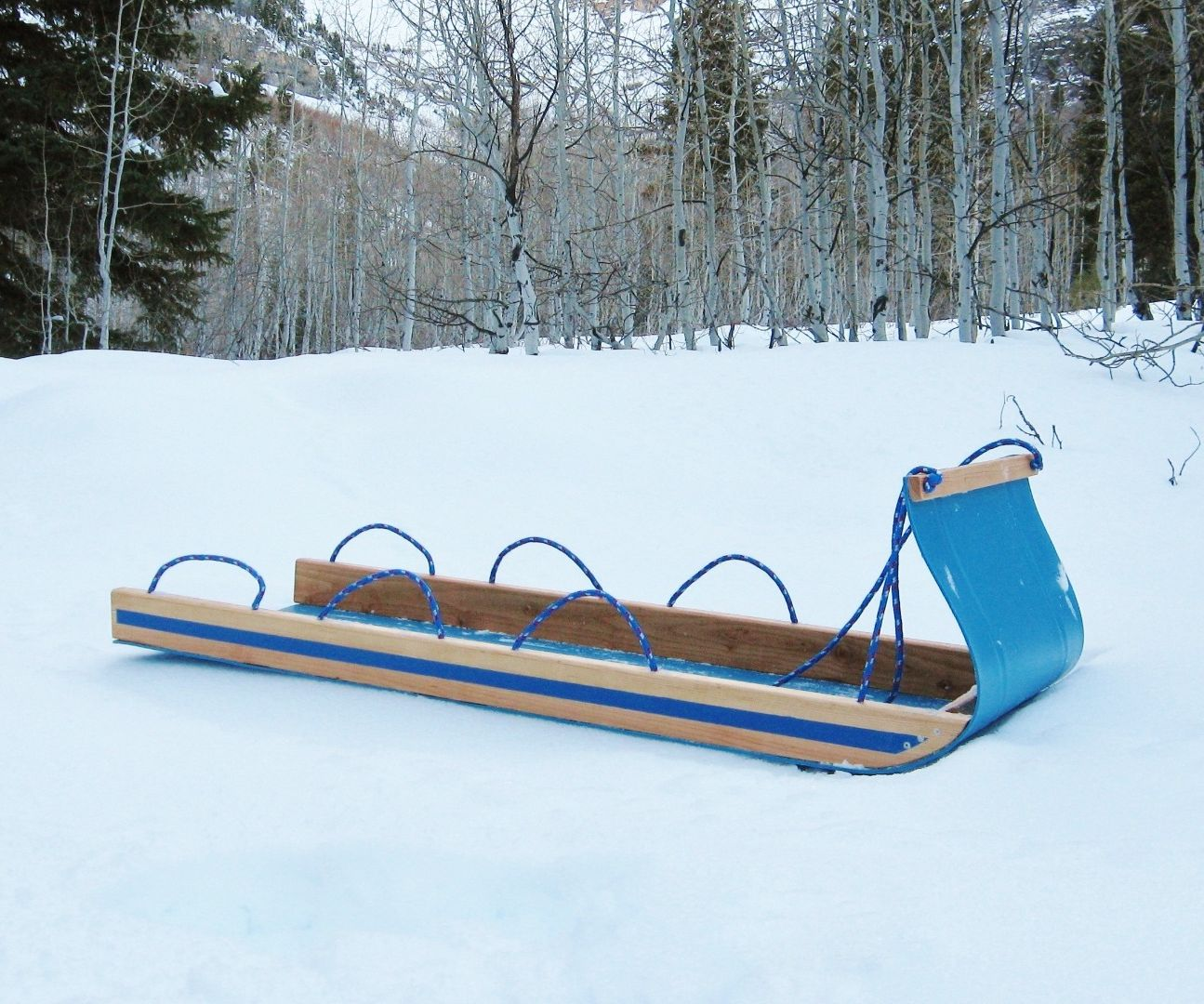 Easy Toboggan from a plastic barrel