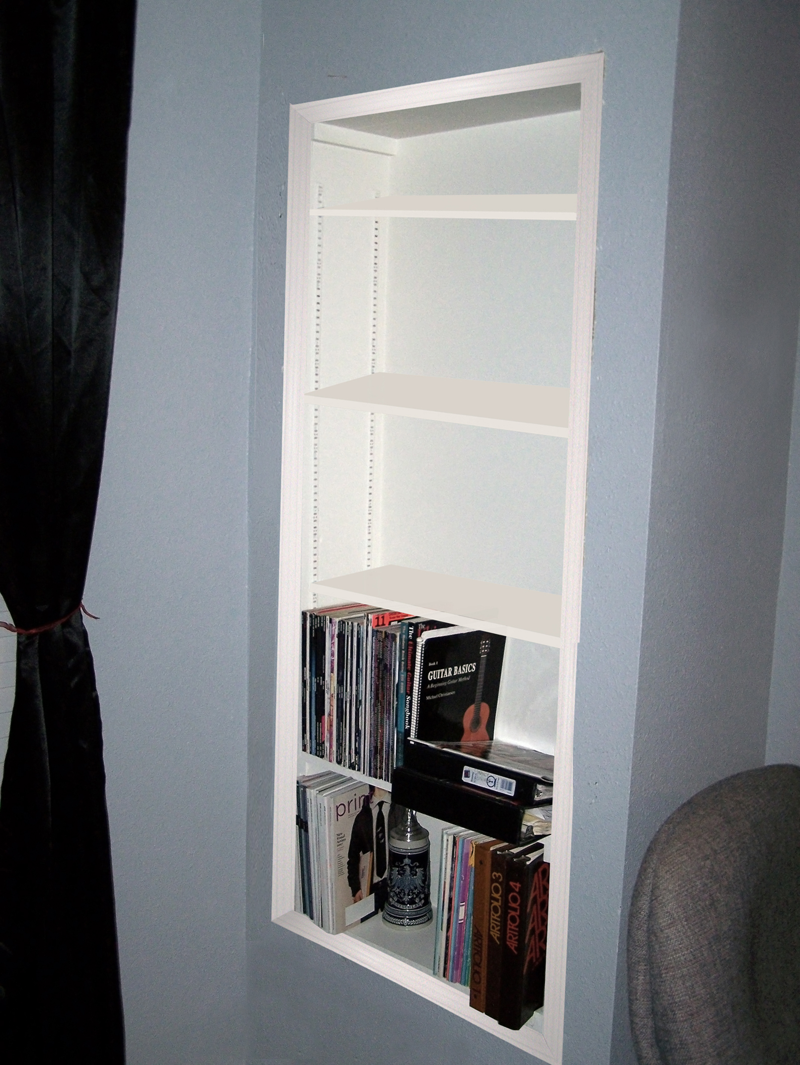 How To Create Recessed Shelving