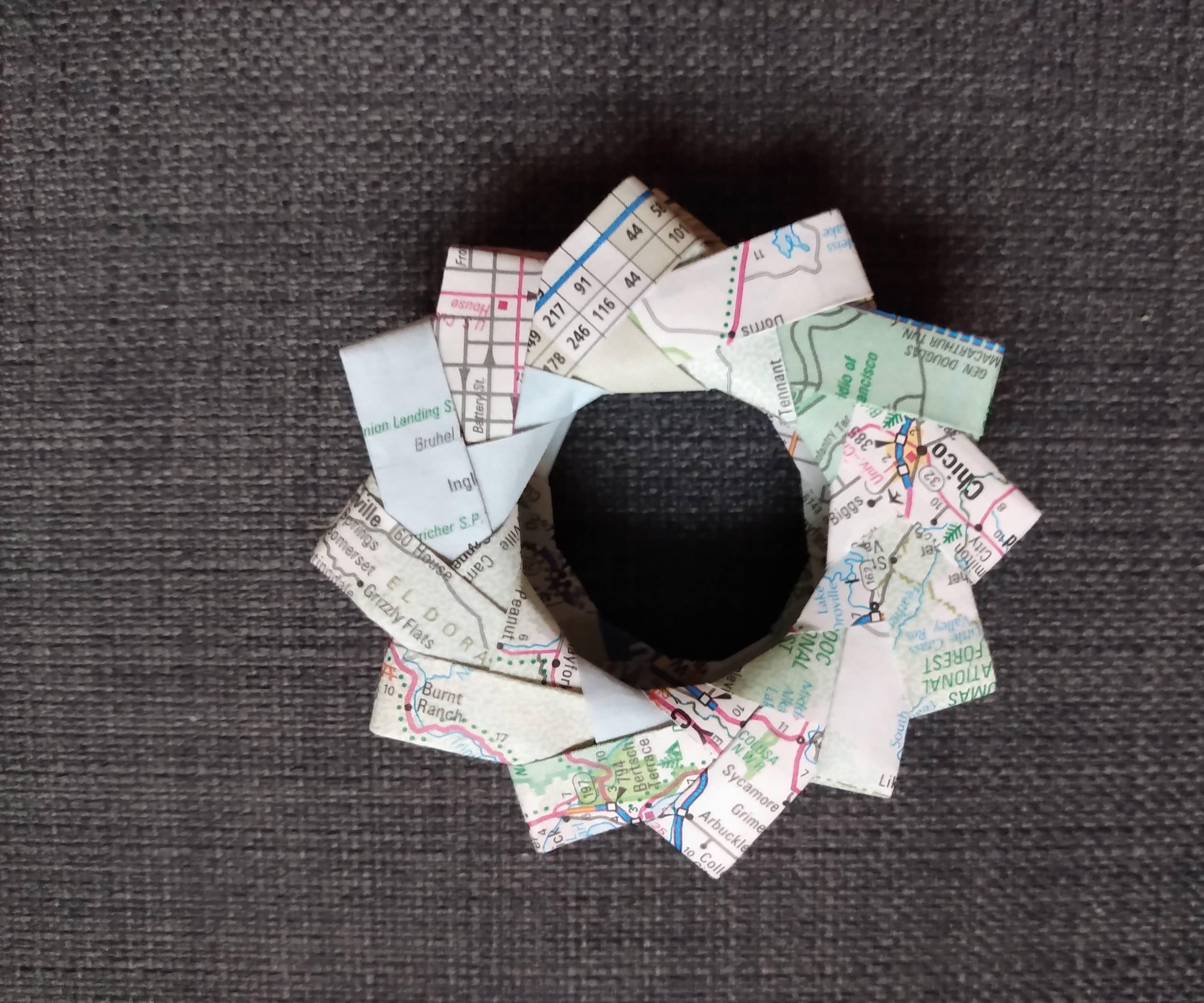Old Atlas Origami