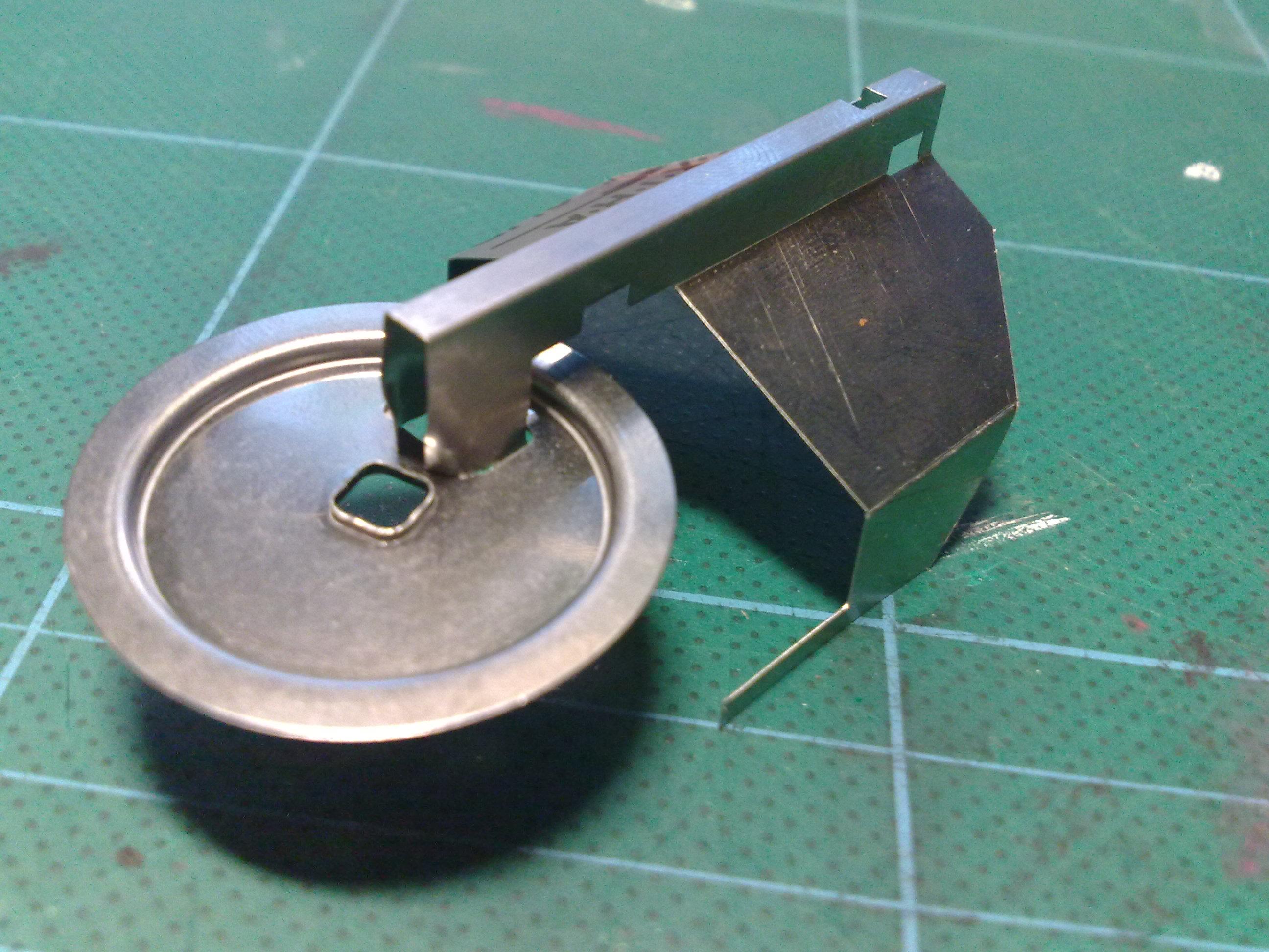 Klingon Bird of Prey made out of a Floppy disk
