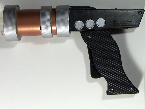 Fixing a Steampunk Toy Pistol With a Piece of Cardboard