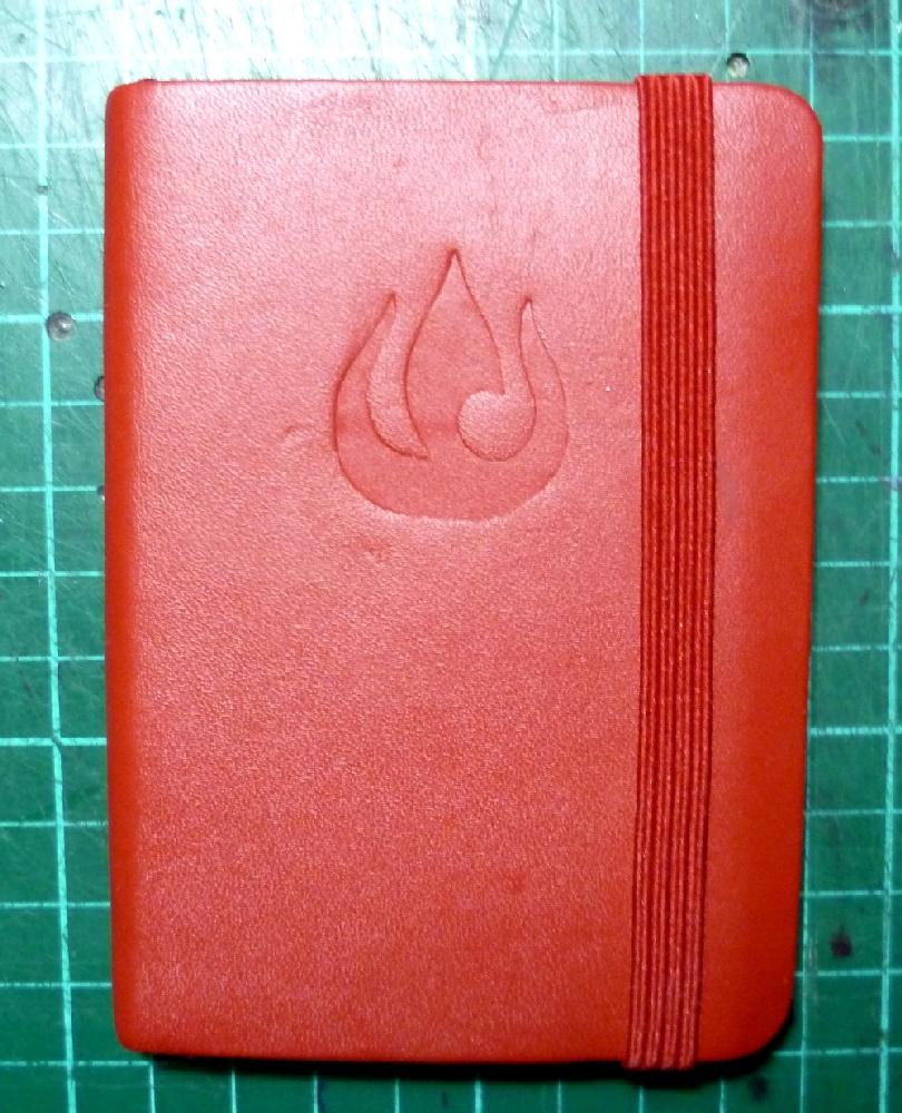 Emboss your notebook