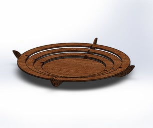 Wooden Plate That Turns Into a Table