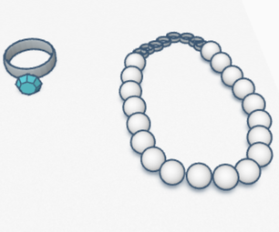 Tinkercad Ring + Neclace Set