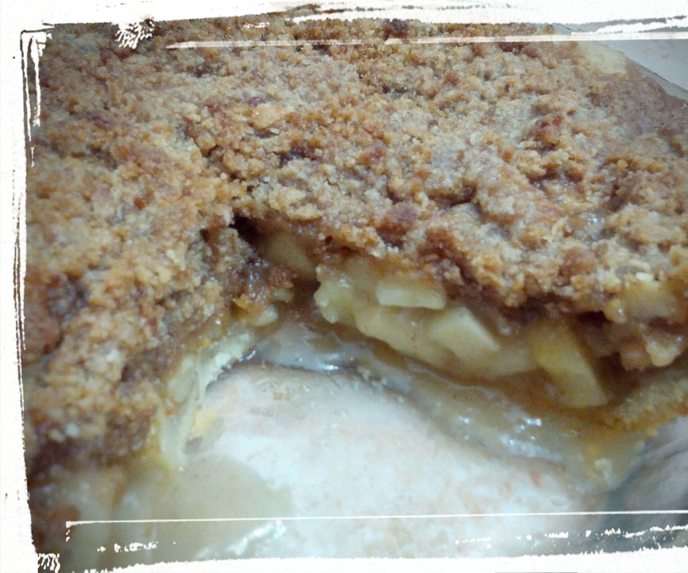 Penultimate Caramel Crumb Apple Pie